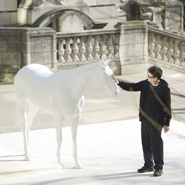 Dezeen Mark Wallinger unveils The White Horse 1a