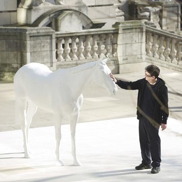 Dezeen Mark Wallinger unveils The White Horse 1a