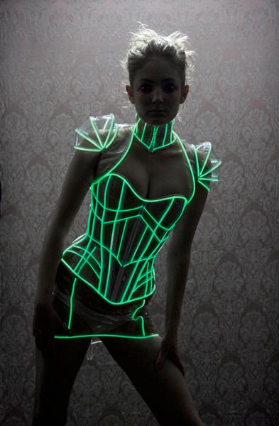 EL Wire Corset #WearableWednesday « Adafruit Industries – Makers ...