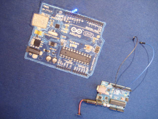 embroidered arduino uno