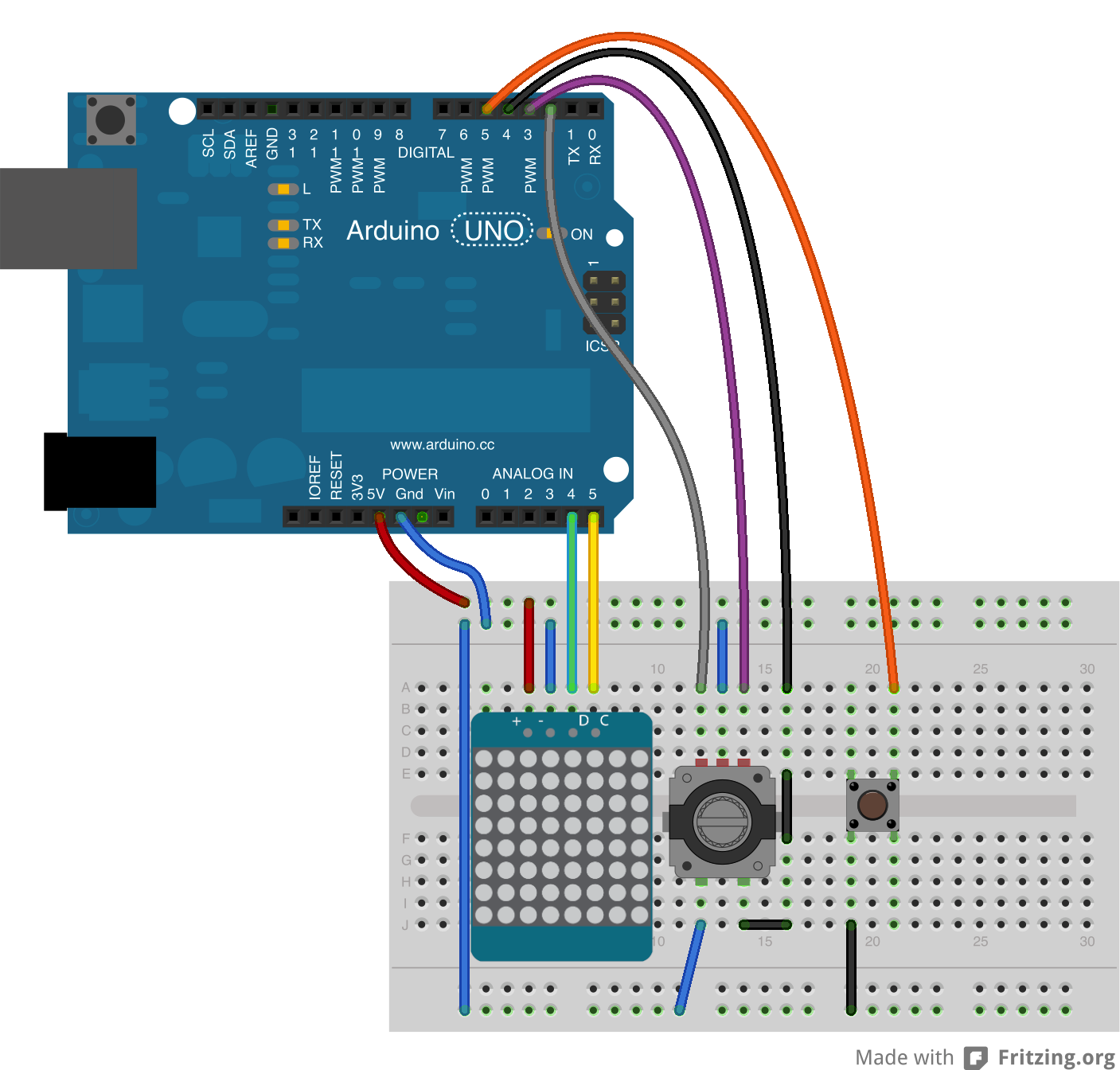 Rotary Encoder LED Ring Overview Arduino / ESP8266