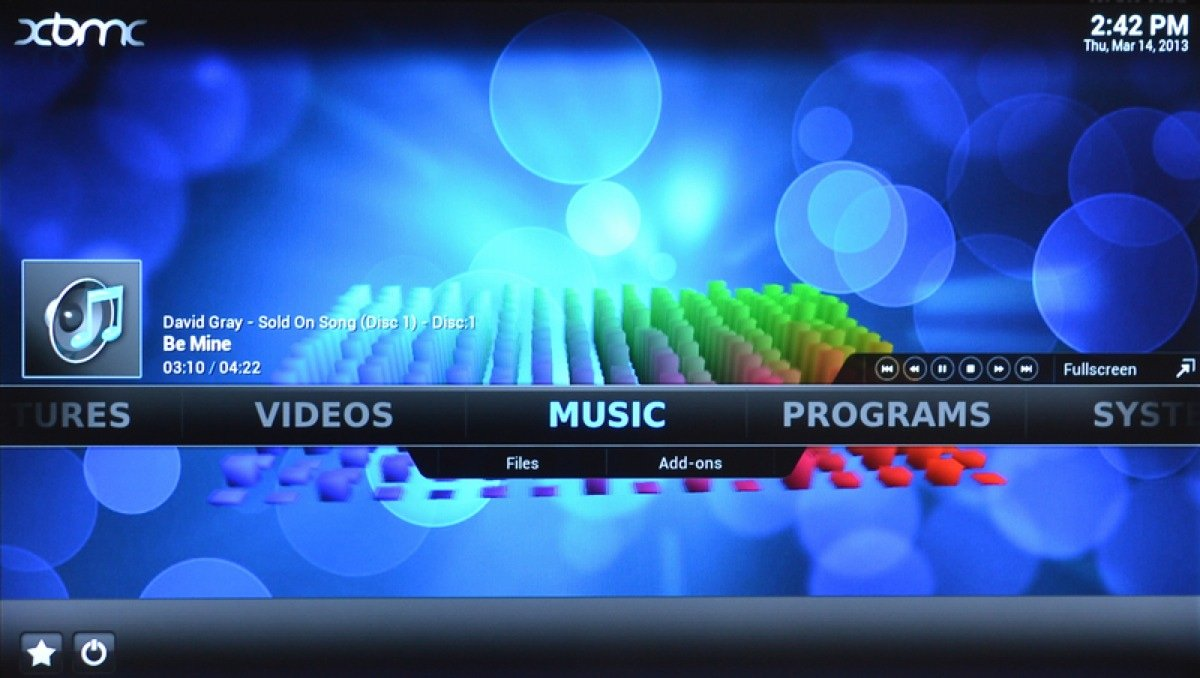 Xbmc Playing Music