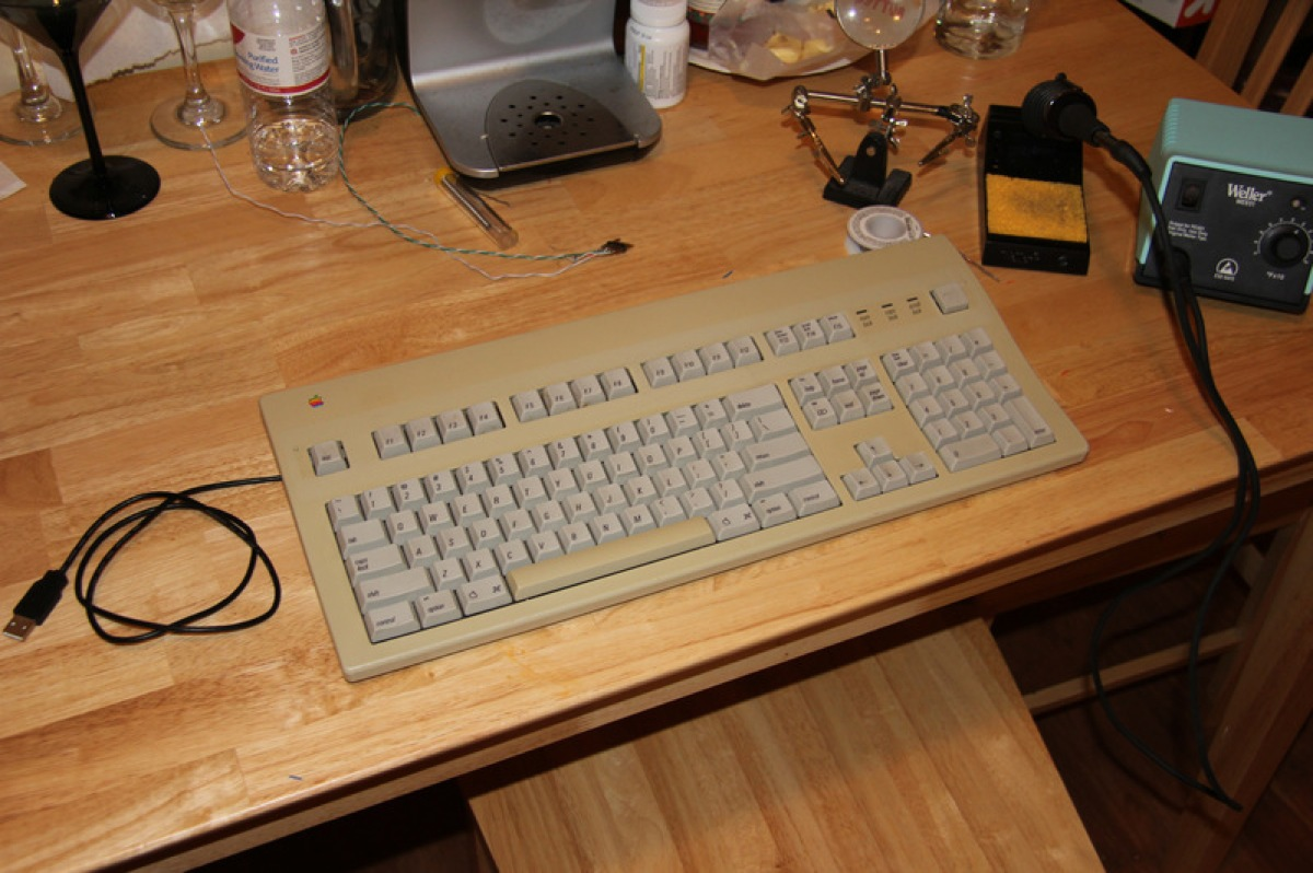 Apple extended keyboard ii hack arduinomicromonday