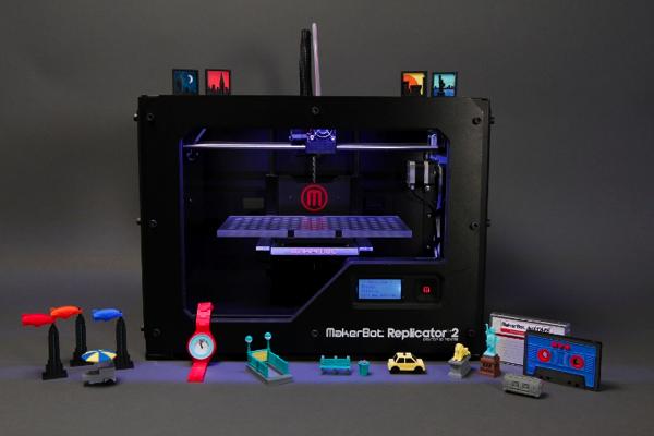 MakerBotRep2AndDesignsCreatedByHumans