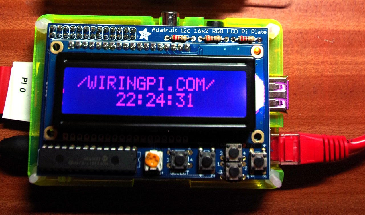 Wiringpi Serial Lcd Change Your Idea With Wiring Diagram Design Pi Pinout Rgb Plate Piday Raspberrypi Raspberry Using Home Automation B Gpio