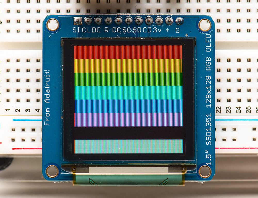 New Product Oled Breakout Board 16 Bit Color 1 5 W