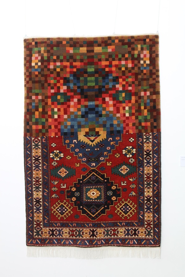 TRADITION IN PIXELS 150 X 100 sm Woolen handmade carpet 2011