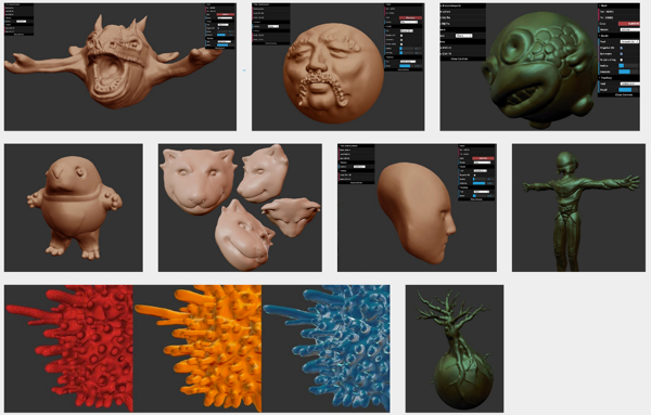 SculptGL: Stéphane Ginier's open source 3D sculpting tool
