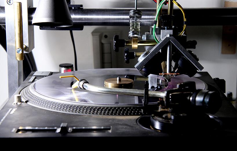 Cutting Graphics Onto Vinyl Records By Shinsuke Yamaji