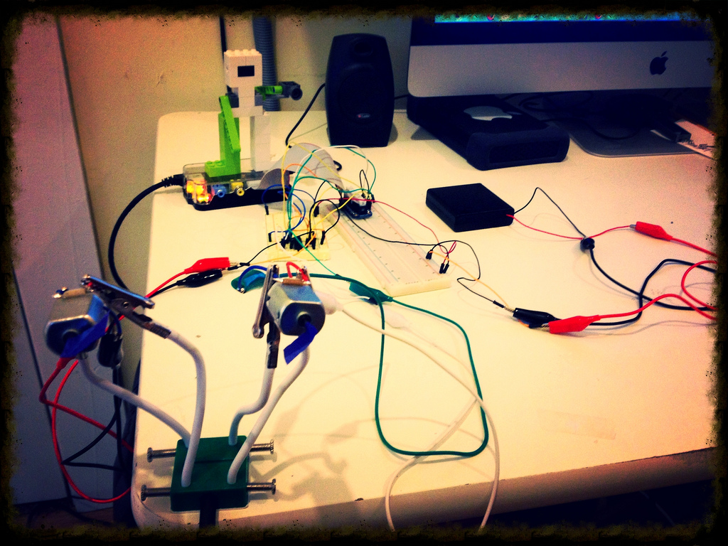 Controlling two DC motors with Raspberry Pi @Raspberry_Pi #piday #raspberrypi