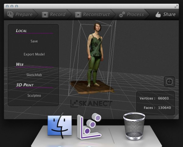 Color 3d Scanning With The Kinect Arrives For The Mac