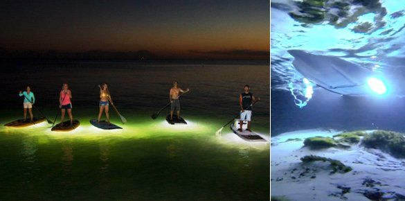 LED paddleboards