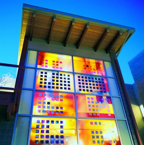 Solar-power stained glass