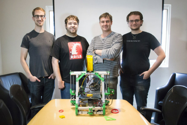 20130805 Linked 3D Printed Sculpture Team Photo