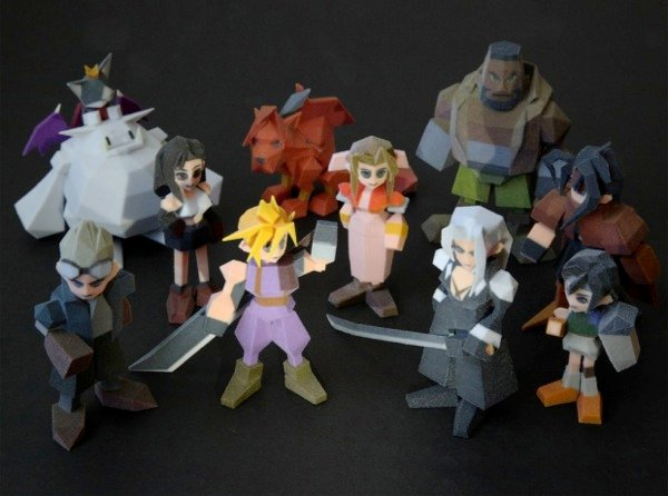 Final Fantasy VII figures 3d printed 3