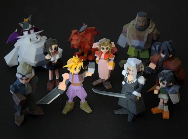 Final Fantasy VII figures 3d printed 3