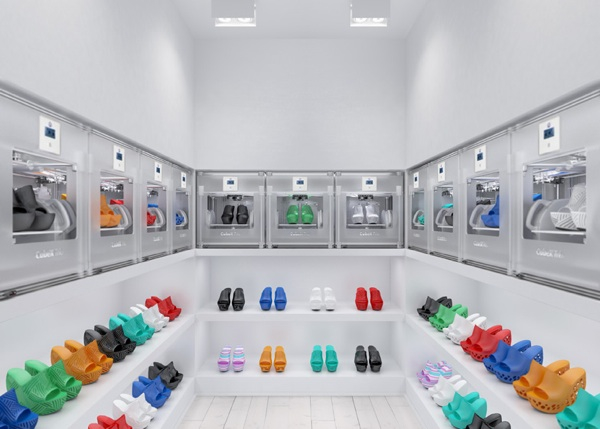 Janne Kyttanen Cubify 3D printed shoe showroom