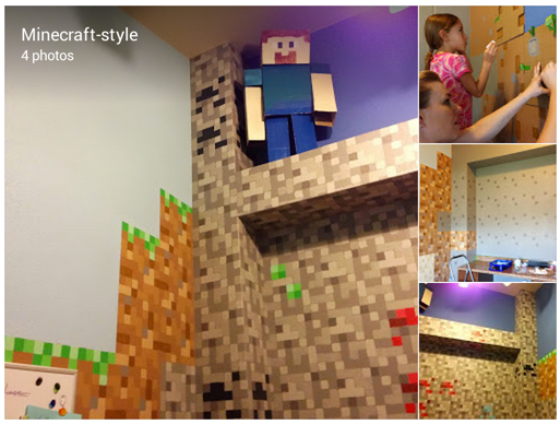 Json Marruffo Google Finished the design in our kiddos school room minecraft