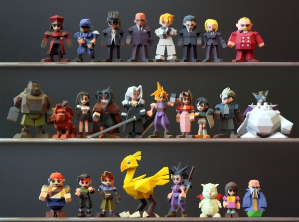 The Cast of Final Fantasy VII 3d printed 1