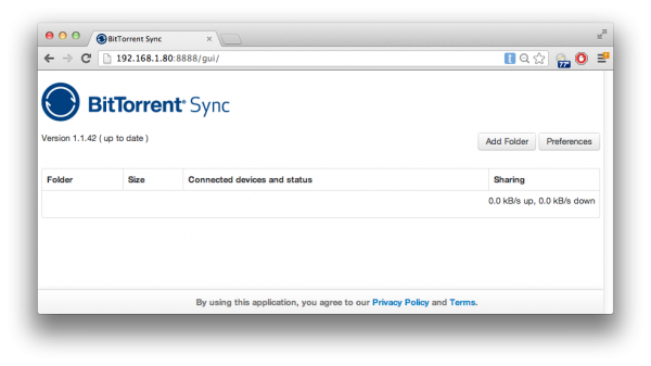 Replace Dropbox with BitTorrent Sync and a @Raspberry_Pi #piday