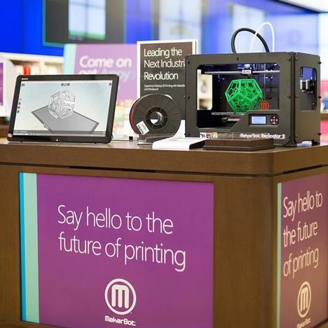 Dezeen Makerbot Replicator 2 Dsktp 3D Printer microsoft 3sq