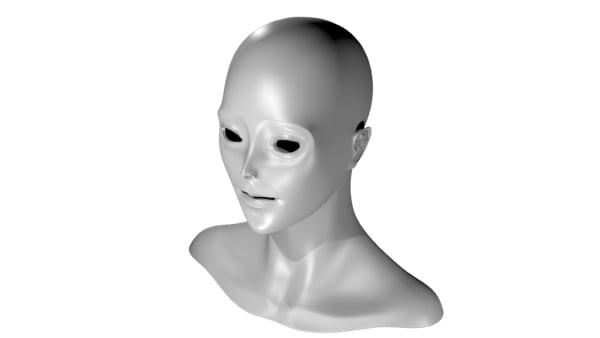 Woman face curves1
