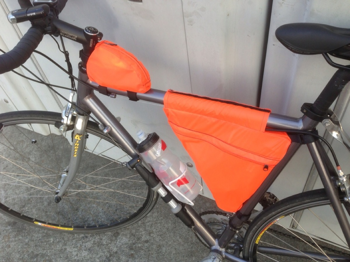 homemade bike frame bags