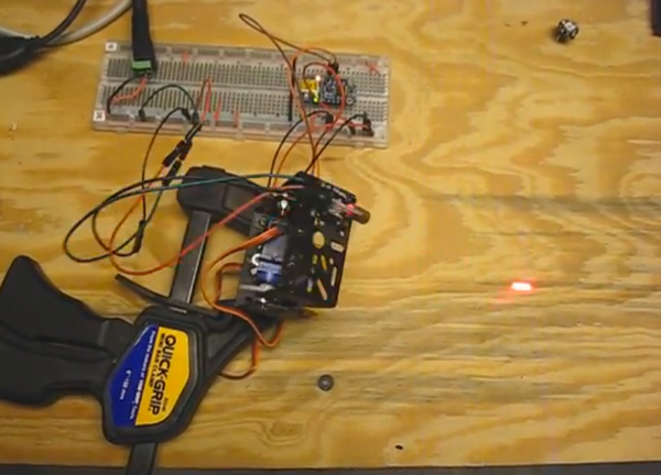 Mike Barela Google The Adafruit Industries  Trinket driving two servos