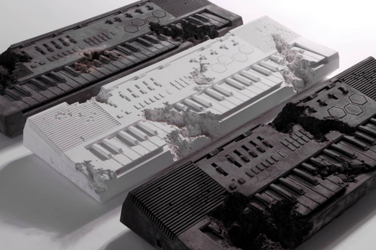 Daniel-Arsham-X-Pharrell-Keyboard-In-Volcanic-Ash-Desigboom-05