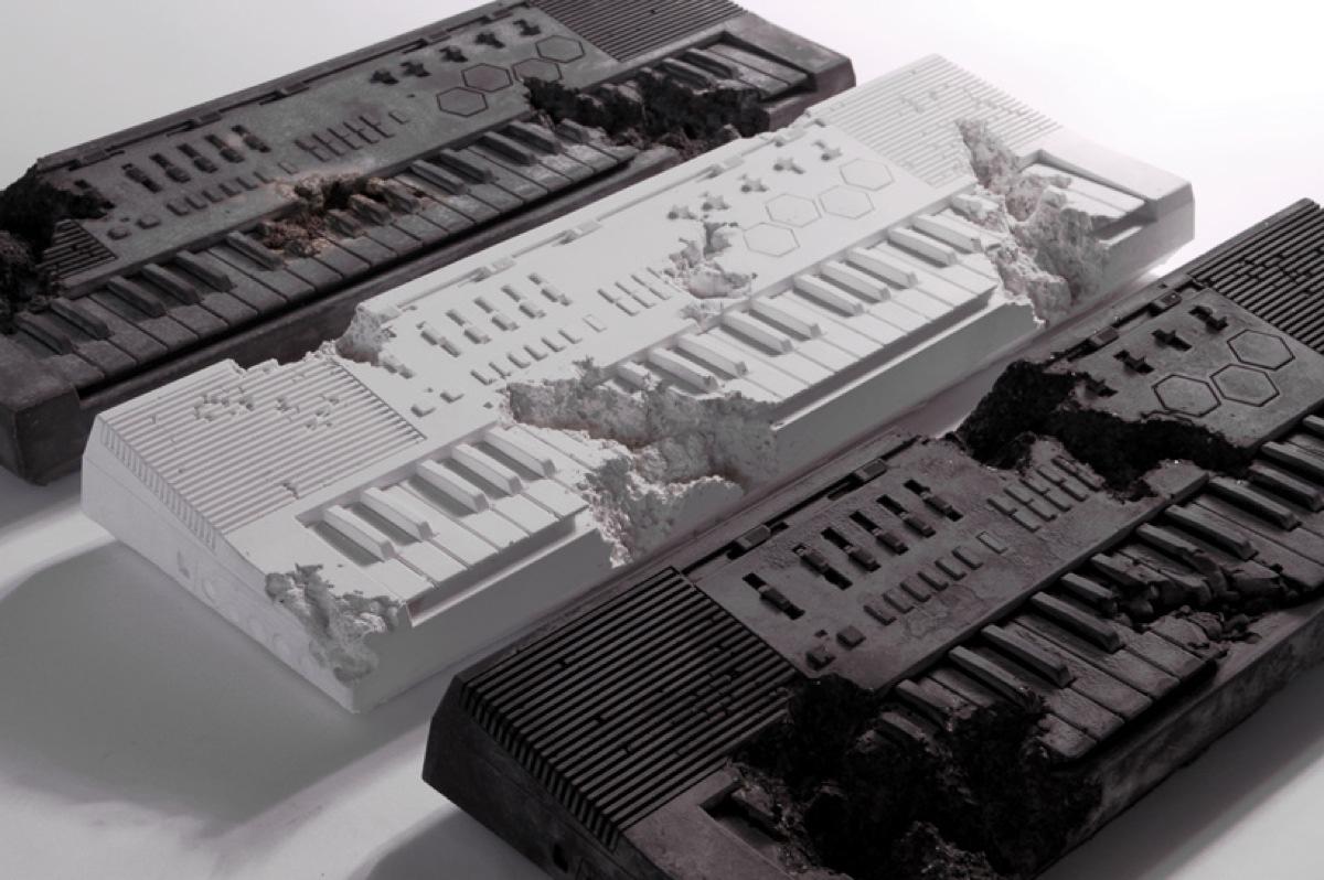 Daniel-Arsham-X-Pharrell-Keyboard-In-Volcanic-Ash-Desigboom-05