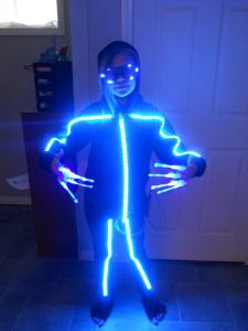 Rgb Stickman Halloween Costume Electronichalloween