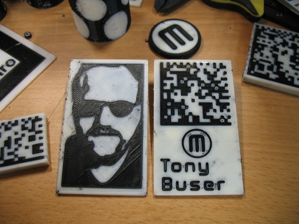 Tony buser business card