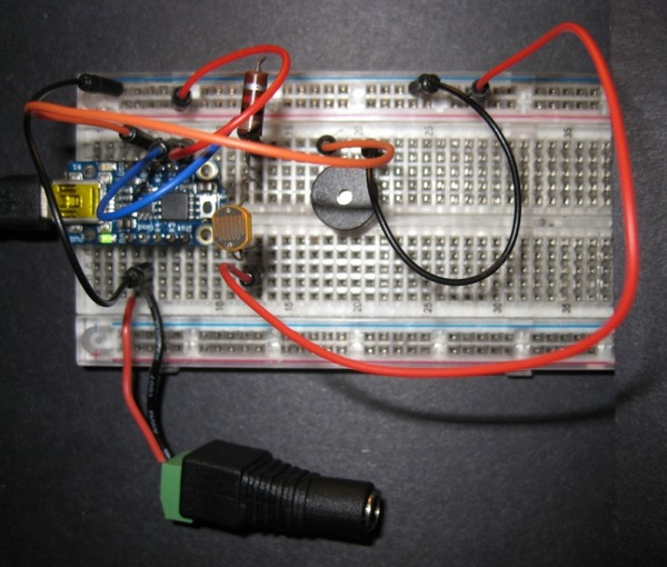 Trinket Theramin-Breadboard