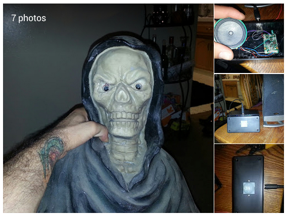 Gabe Escobar Google Working on a fun Halloween project for my haunted doorway