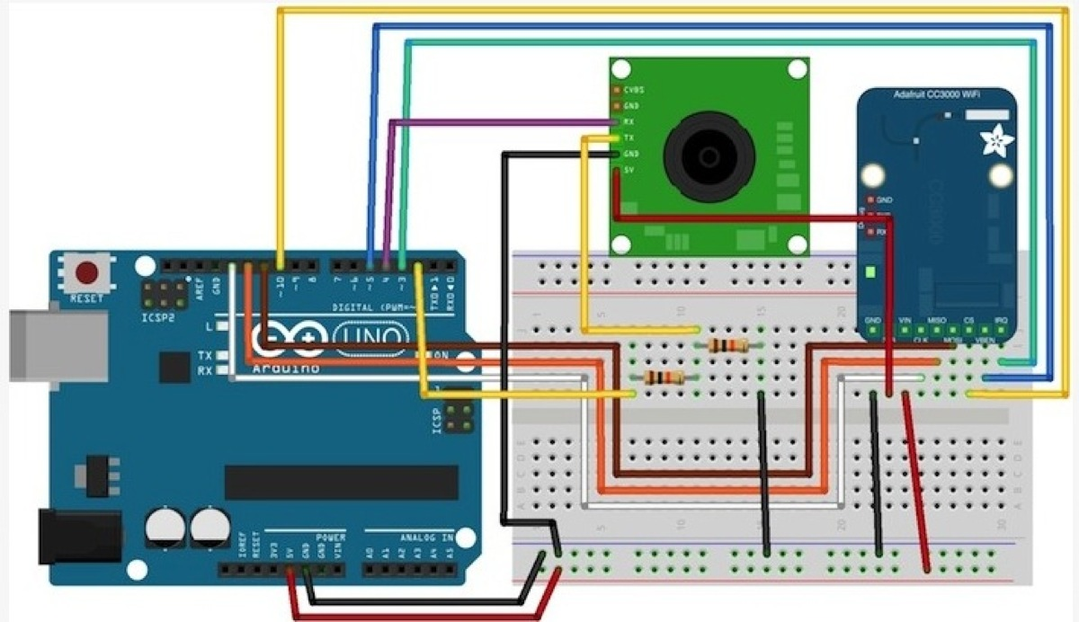 Wireless camera with arduino and the adafruit cc