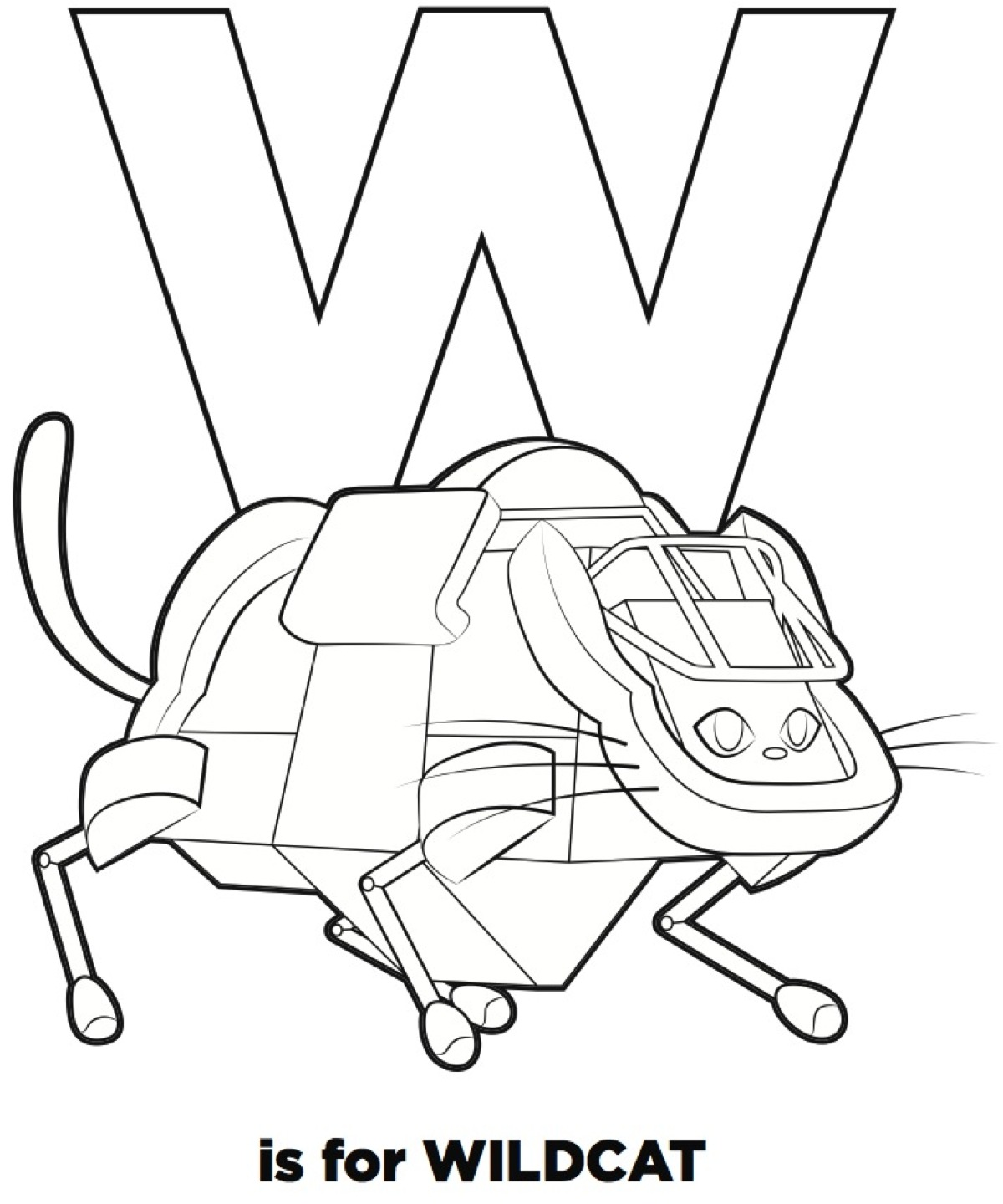 w is for wildcat  u2013 preview of  u201cr is for robots u201d a new