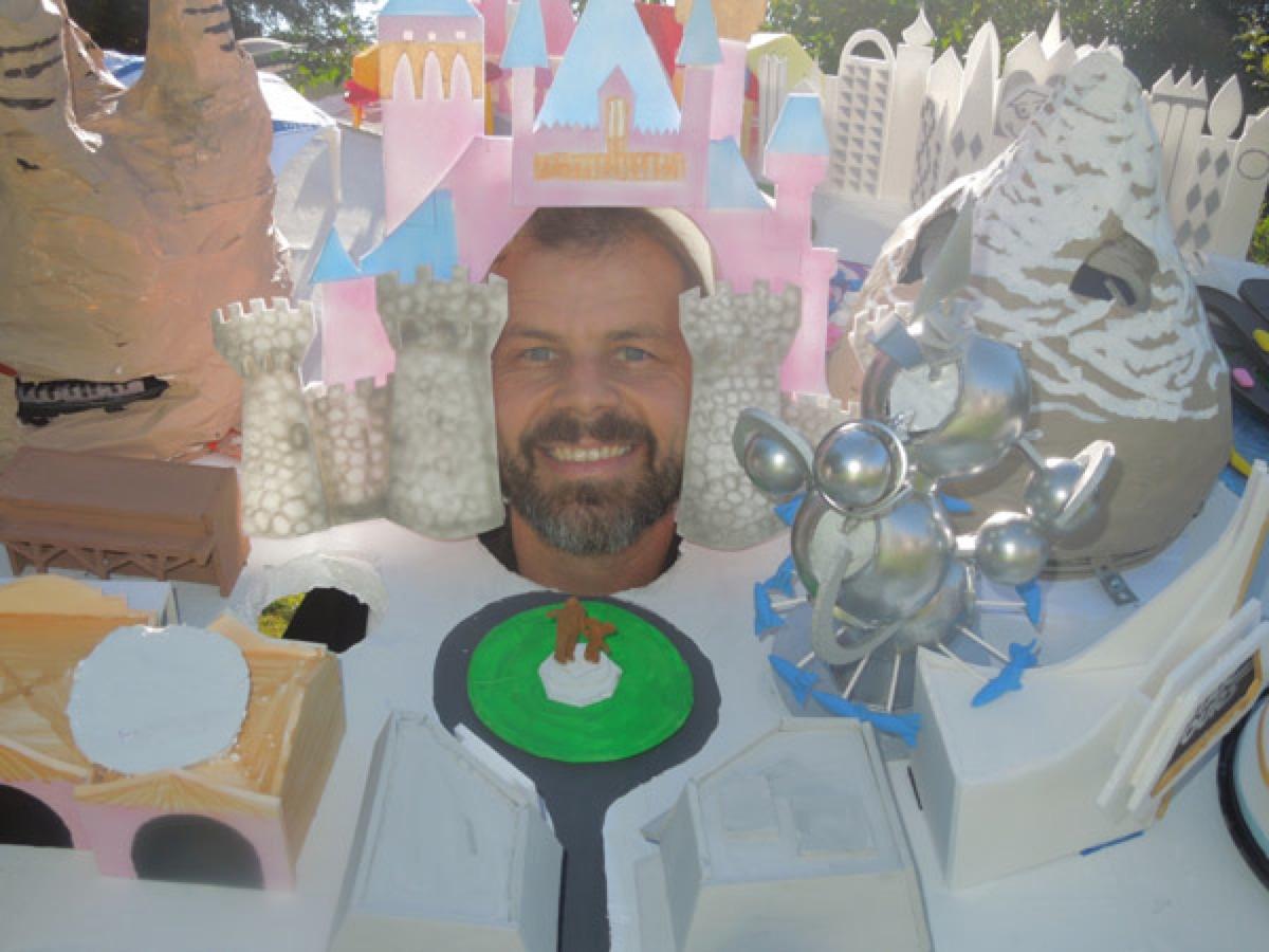 Wearing Disneyland Costume