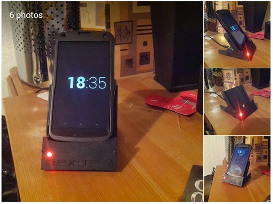 Daniel Would Google Custom Nexus 4 dock as finished as I m going to make it
