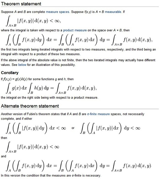 Fubini's Theorem
