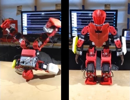 Preview of I Bioloid Great first tests of my under 1000 USD 3d printed Humanoid robot prototype