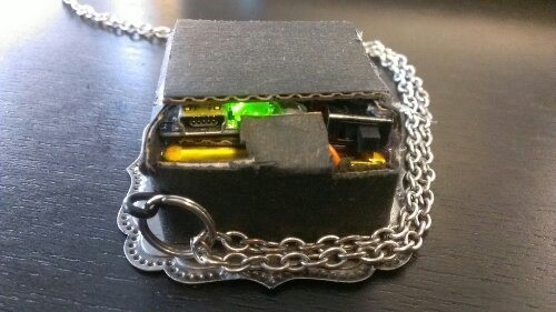Space Invader Pendant Inside Case 2