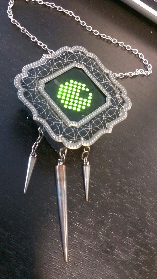 Space invader pendant