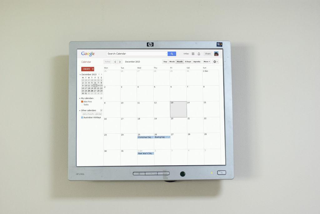 Raspberry Pi Wall Mounted Google Calendar Raspberry Pi