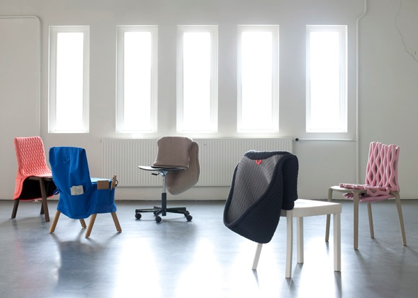 Clothing designed for chairs by Bernotat and Co dezeen 1ban