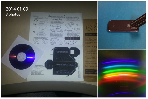 Steven Garrity Google I made a spectrometer today using my Samsung GS3 and a kit