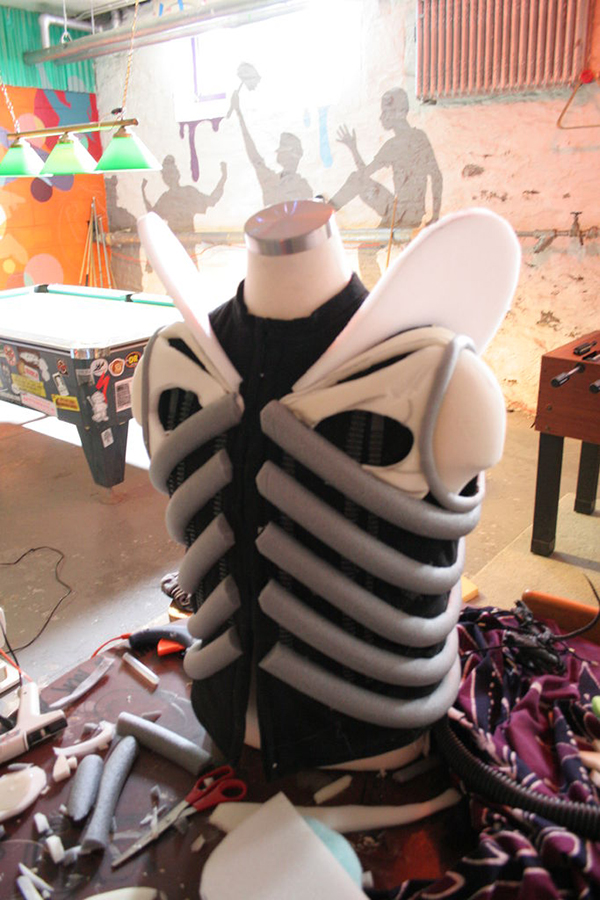 alien costume in progress