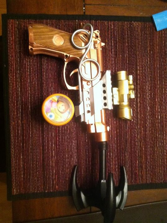 Batgirl steampunk Gatling gun in progress
