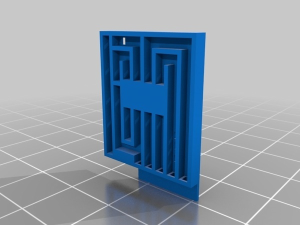 3D Printed Solderless Circuit Board - 3D digital model