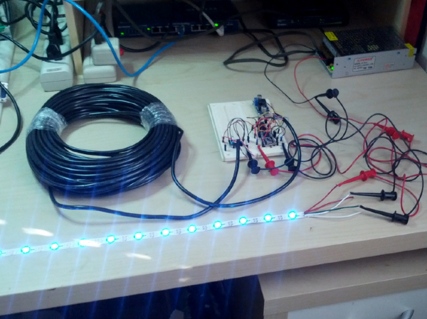 Teknynja Driving WS2812 NeoPixels RGB LEDS over CAT5 Ethernet Cable 2