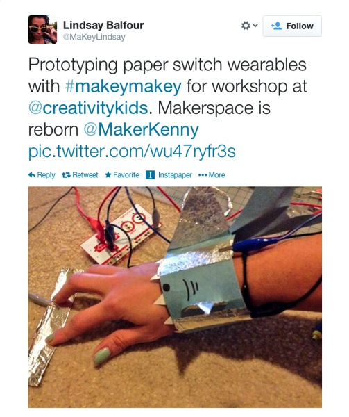 Twitter MaKeyLindsay Prototyping paper switch 2